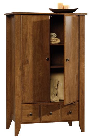 Sauder Shoal Creek 410420 2 Door Armoire With Drawer | Becker Furniture  World | Armoires