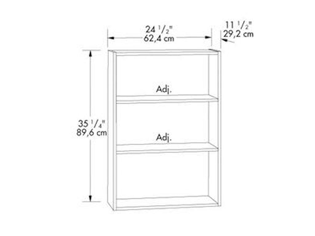 Sauder Bookcases3-Shelf Bookcase
