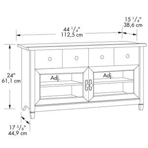 Sauder Edge Water 4 Drawer Panel Tv Stand With 2 Doors Westrich