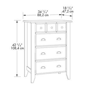 Shown In Room Setting; Sauder Shoal Creek4 Drawer Chest
