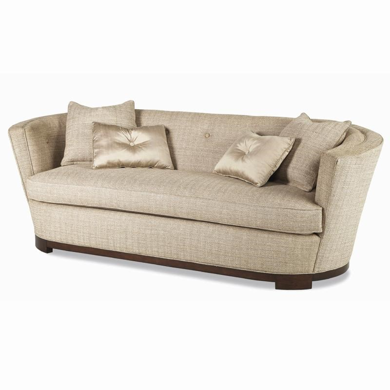 Ordinaire Schnadig Ava Contemporary Barrel Back Sofa With Button Accents And Silk  Throw Pillows | Jacksonville Furniture Mart | Sofa