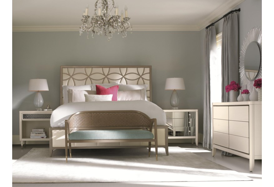 Caracole Classic Contemporary Queen Size Sleeping Beauty Bed Jacksonville Furniture Mart Panel Beds