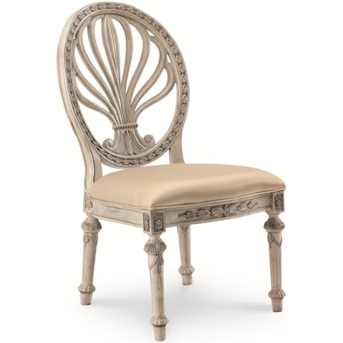 Schnadig Empire II Oval Back Dining Side Chair with Upholstered Seat