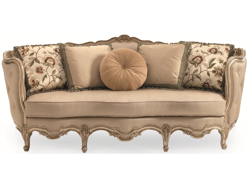 Schnadig FlorenceFlorence Carved Wood Sofa
