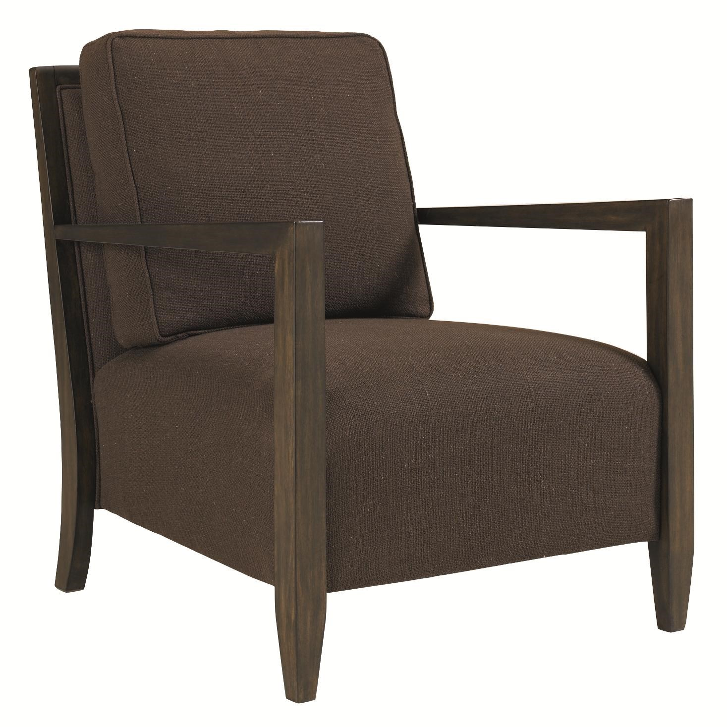 Schnadig Modern Artisan Linear Chair With Exposed Wood Frame