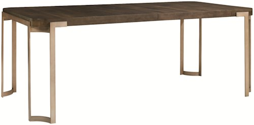 Schnadig Modern Artisan Artisans Dining Table with Modern Industrial Style