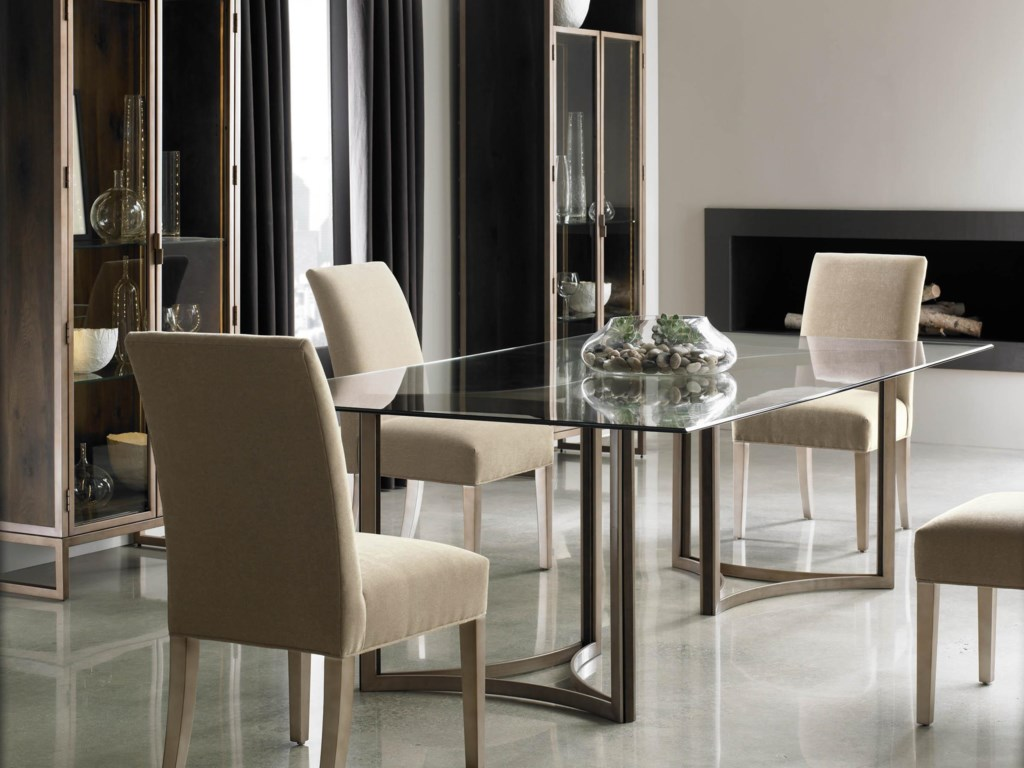 Schnadig Modern Artisan In The Clear Dining Table And Artisans Chair Set