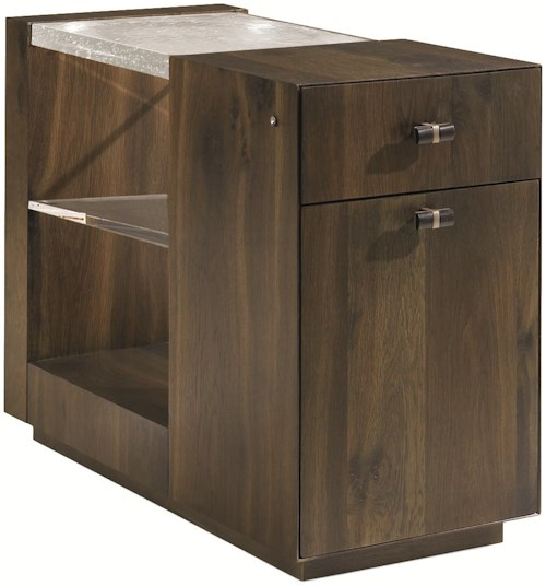 Schnadig Modern Artisan End Lighten Me End Table with Drawers