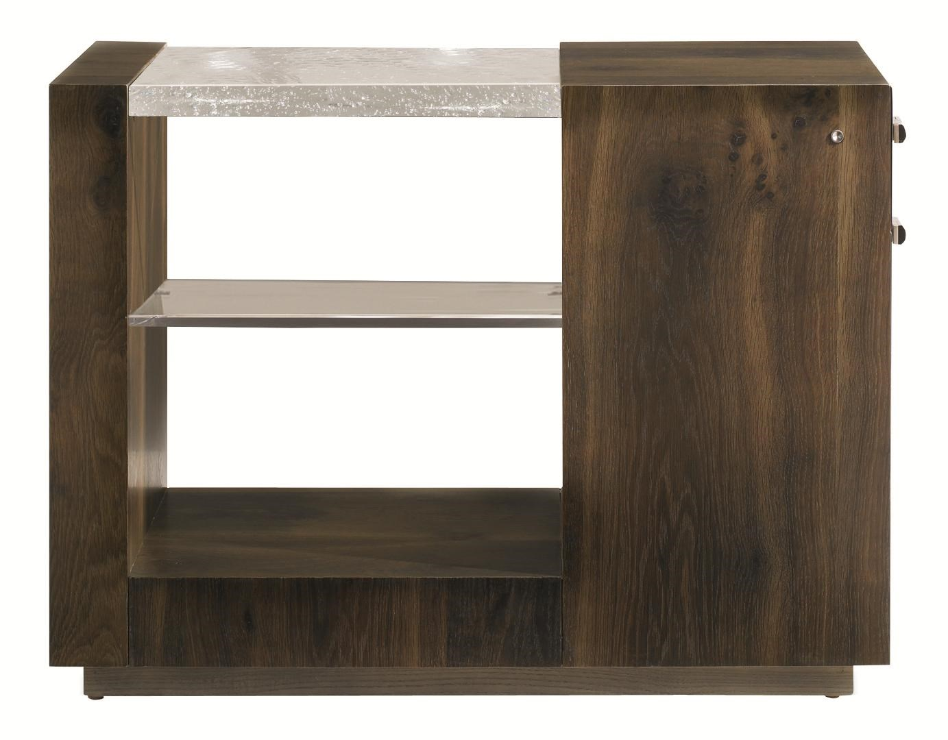 Modern Artisan End Lighten Me End Table With Drawers By Schnadig
