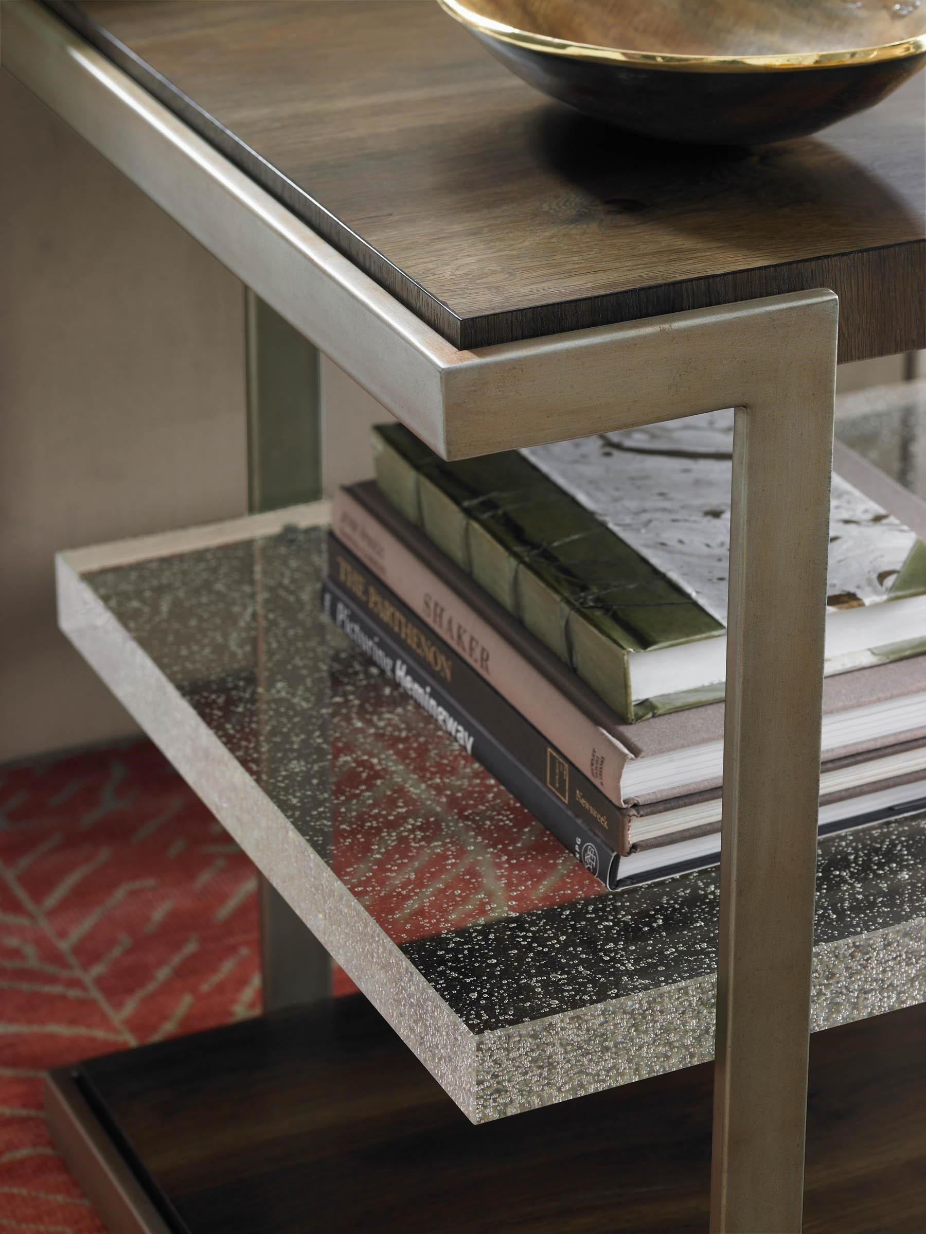 Modern Artisan Artisans End Table With Glass Shelf By Schnadig