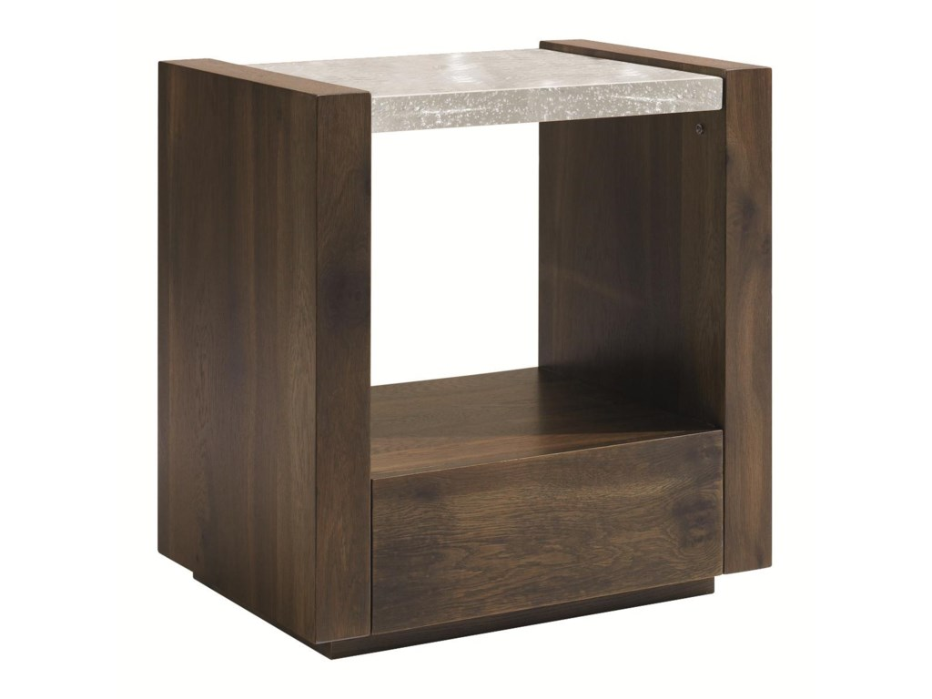 Schnadig Modern ArtisanBest in Glass 1 Drawer Nightstand