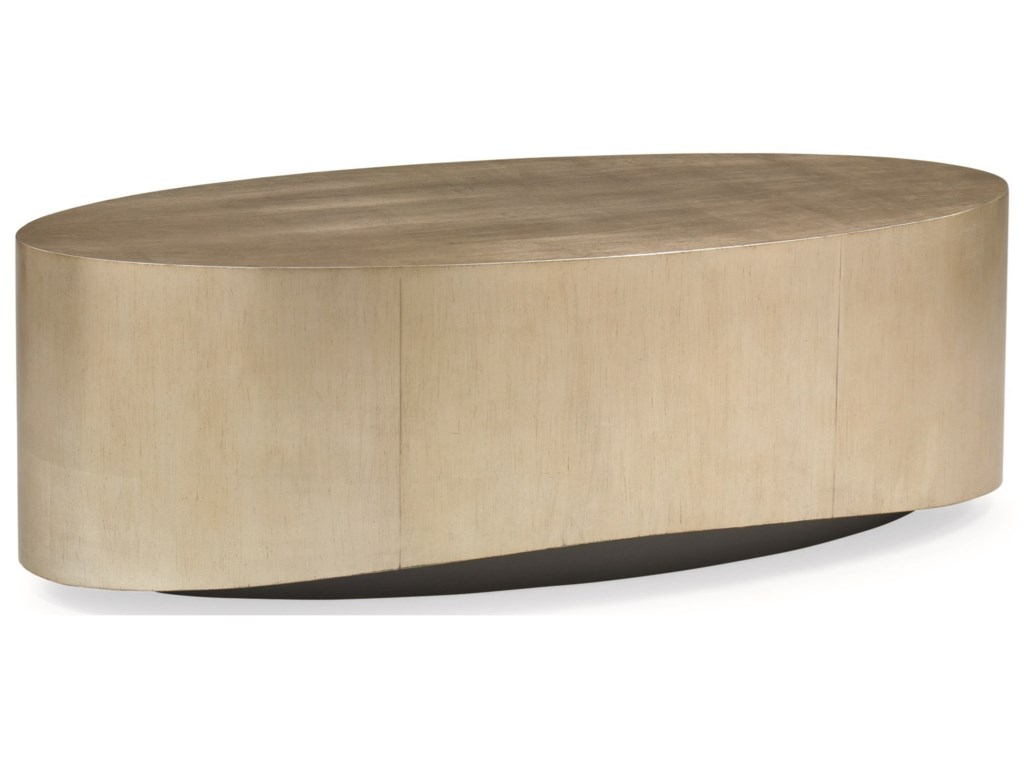 Schnadig Caracole - New TraditionalCome Oval Here Cocktail Table