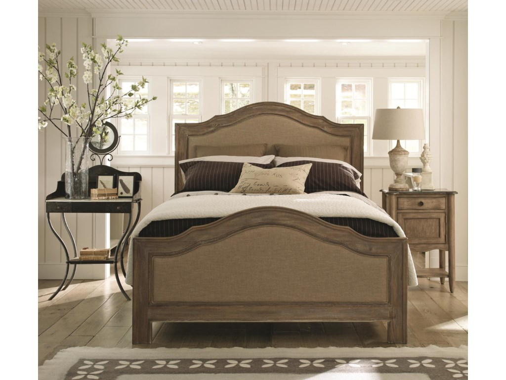 Schnadig Outside InQueen Cobblestone Upholstered Bed