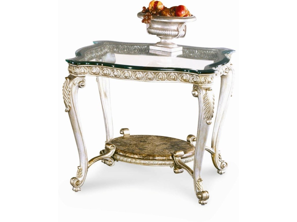 Schnadig RegencySilver Palace End Table