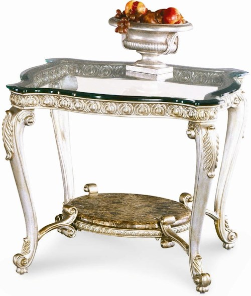 Schnadig Regency Silver Palace End Table