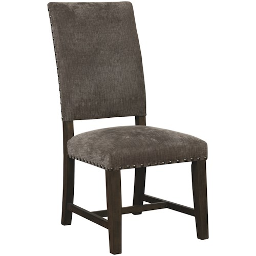 Scott Living 1028 Upholstered Parson Chair with Nailhead Trim