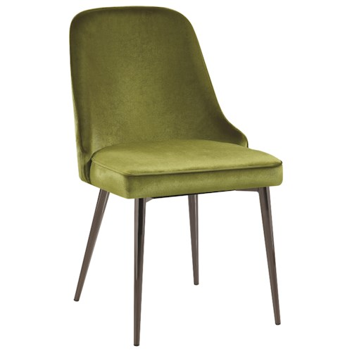 Scott Living 10795 Upholstered Dining Chair with Tapering Legs