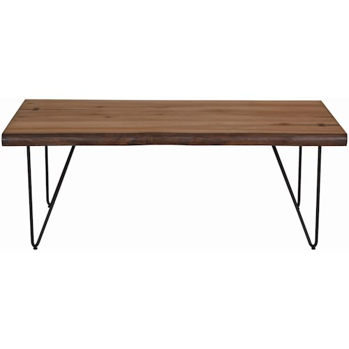 Coaster 70566 Live Edge Coffee Table with Hairpin Legs