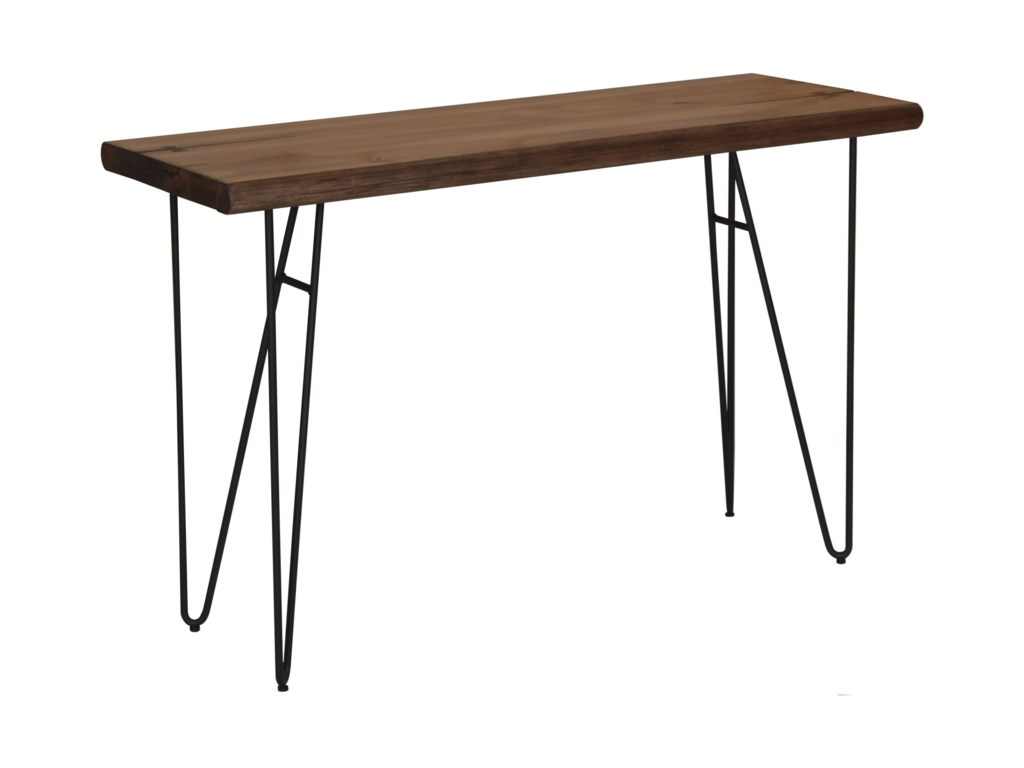 70566 Live Edge Sofa Table With Hairpin Legs By Scott Living