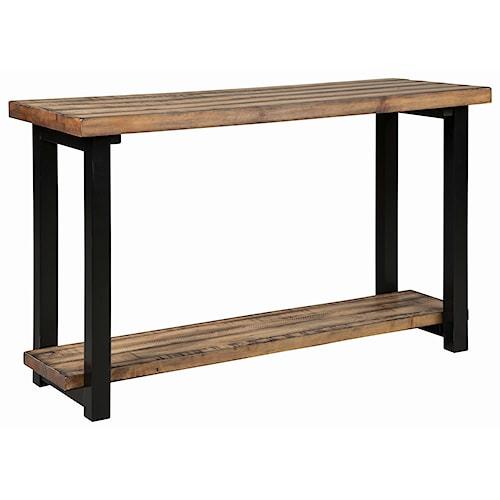 Scott Living 70567 Rustic Plank Top Sofa Table