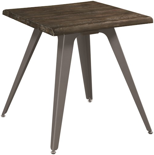 Scott Living 70581 Rustic End Table with Live Edge Top