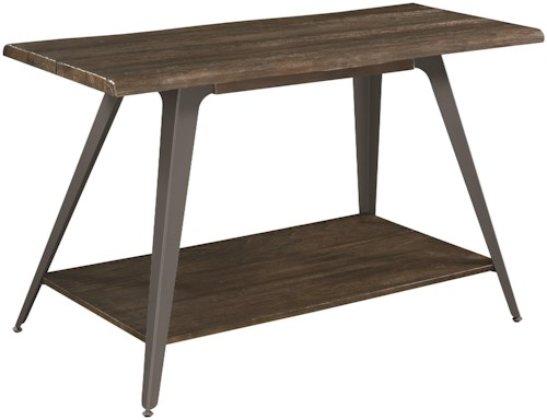 Scott Living 70581 Rustic Sofa Table with Live Edge Top