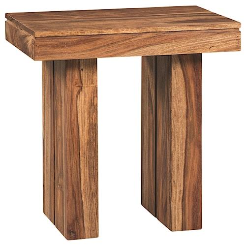 Scott Living 70584 Rustic Rectangular End Table