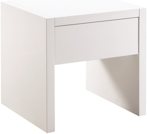Scott Living 72124 Contemporary End Table with High Gloss Finish