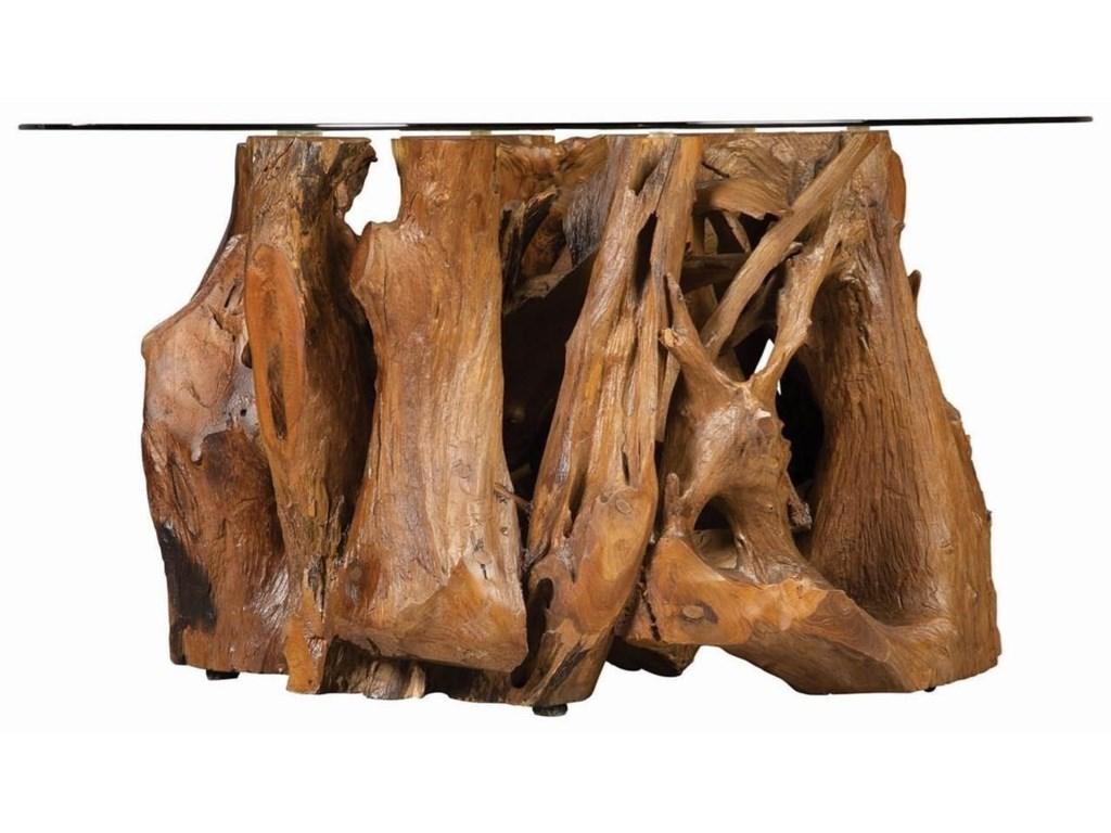 Scott Living 721668Rustic Teak Root Coffee Table