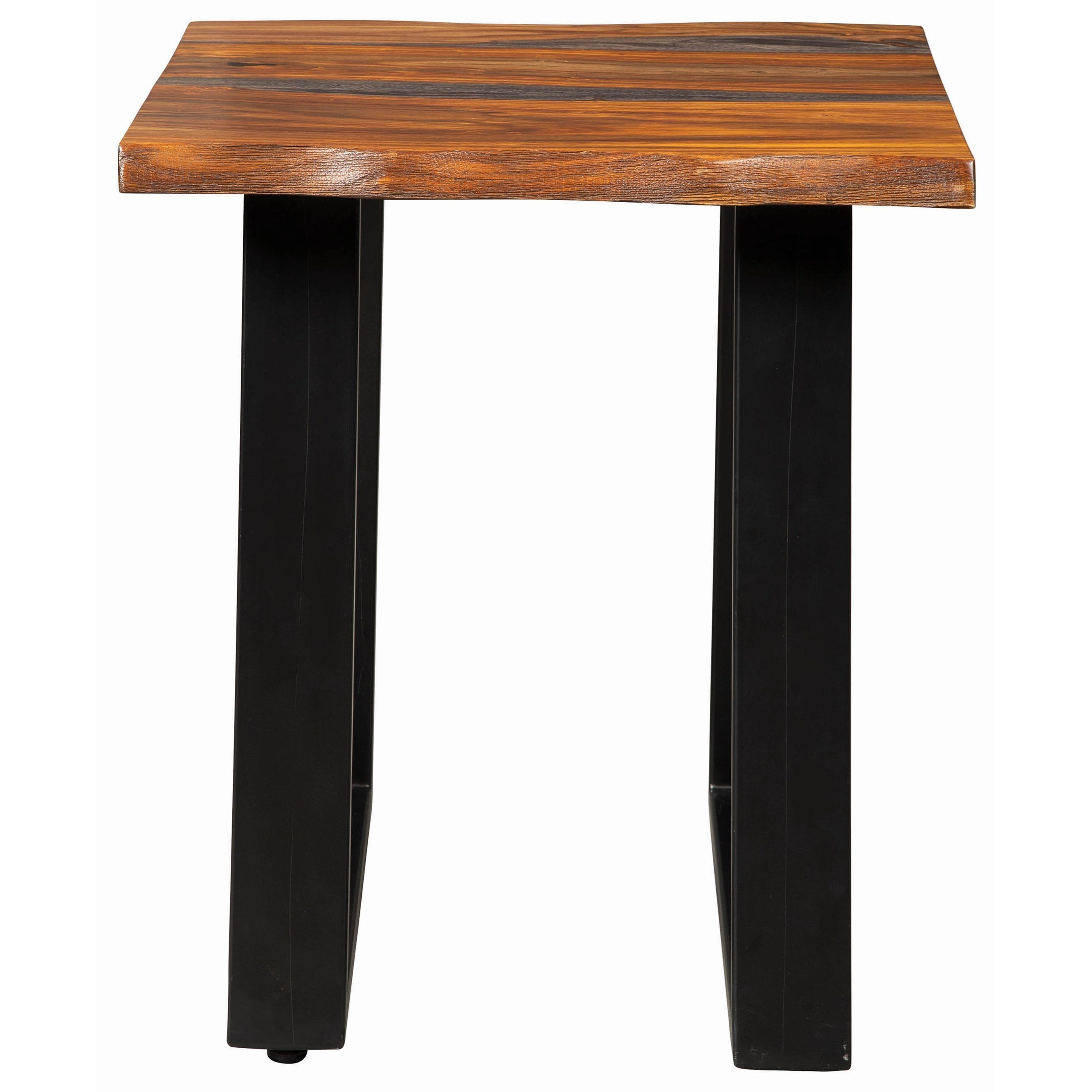 Scott Living 72182 Modern Rustic Side Table With Live Edge   Ruby Gordon  Home   End Tables