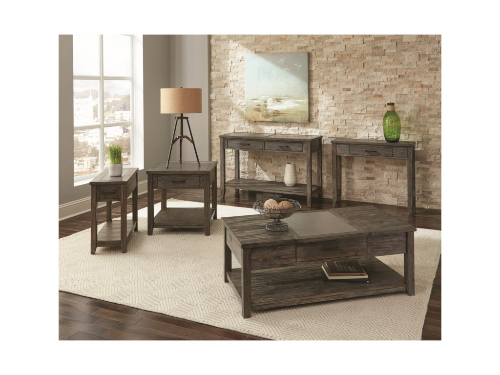 Scott Living CompositionLift Top Coffee Table