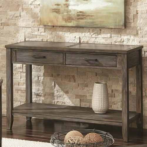 Scott Living 72241 Transitional Sofa Table with 2 Drawers