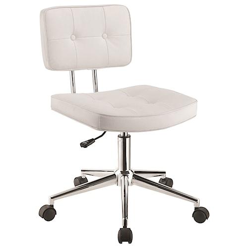 Scott Living 80128 Armless Modern Office Chair