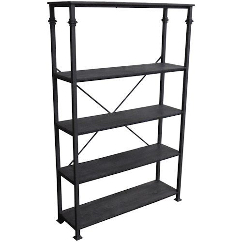 Scott Living 8014 Industrial Four Shelf Bookcase