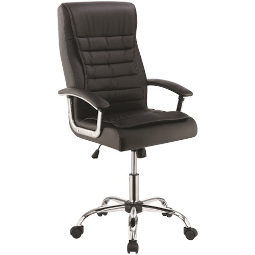 Coaster 801528 Black Leatherette Office Chair