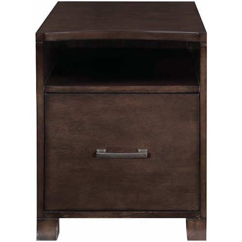 Scott Living 80175 Transitional File Cabinet with Curved Front