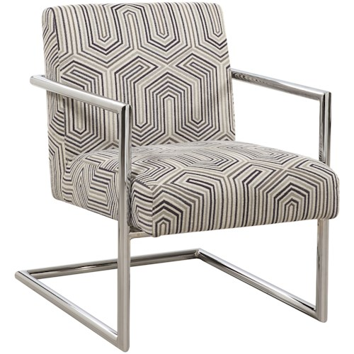 Scott Living 903402 Modern Accent Chair with Geometric Pattern