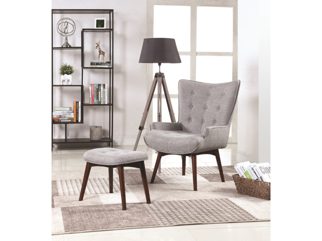 Scott Living AccentsAccent Chair With Ottoman