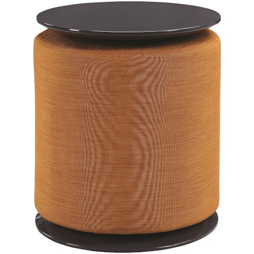 Scott Living 93001 Round Accent Table with Ottoman