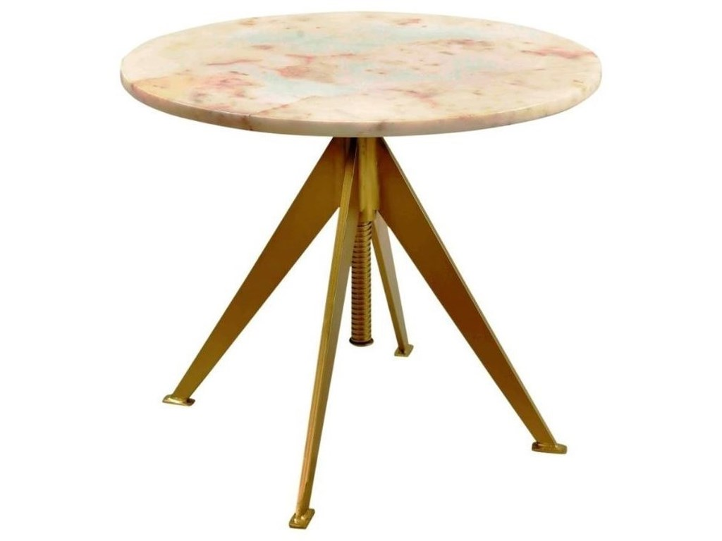 Scott Living AccentsMarble and Brass Accent Table
