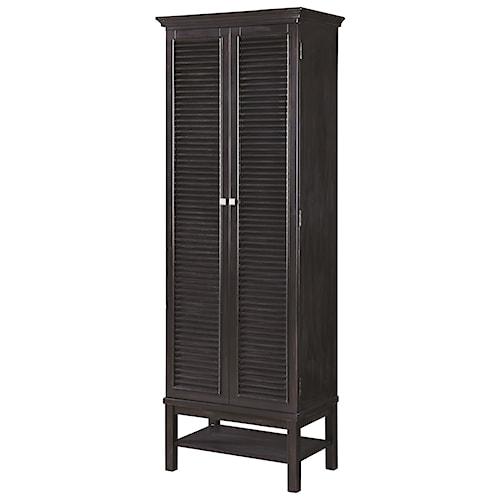 Scott Living 950732 Tall Wine Cabinet with Shutter Doors