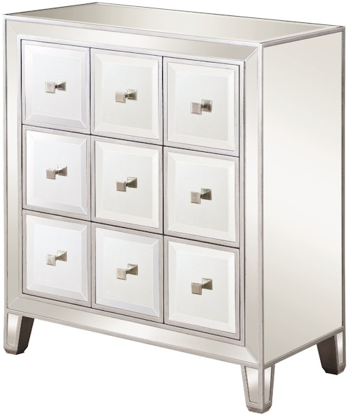 Scott Living 950745 Glam Mirrored Accent Cabinet