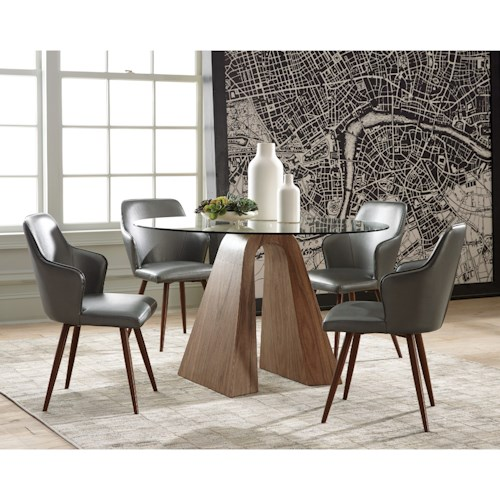 Scott Living Abbott Round Table and Chair Set
