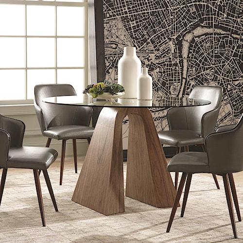 Scott Living Abbott Sculptural Round Dining Table