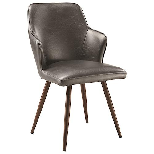 Scott Living Abbott Demi Arm Dining Chair Leatherette
