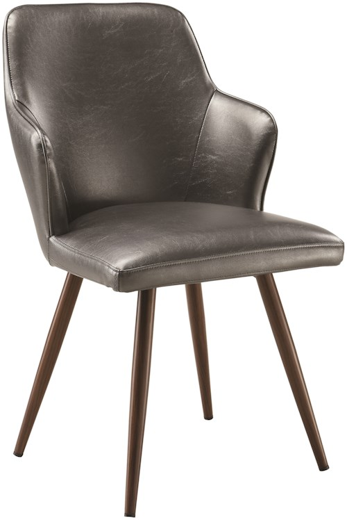 Scott Living Abbott Demi Arm Dining Chair Leatherette