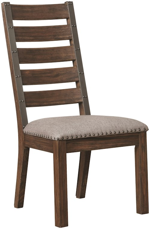 Scott Living Atwater Dining Side Chair with Upholstered Seat