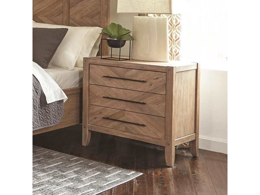 Scott Living Auburn3 Drawer Nightstand