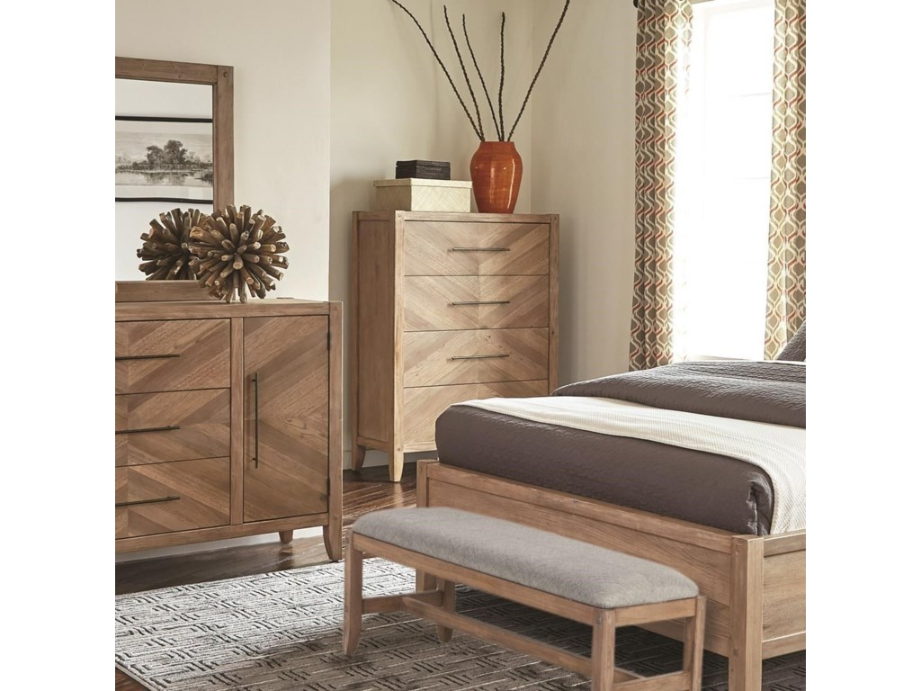 Scott Living Auburn4 Drawer Chest