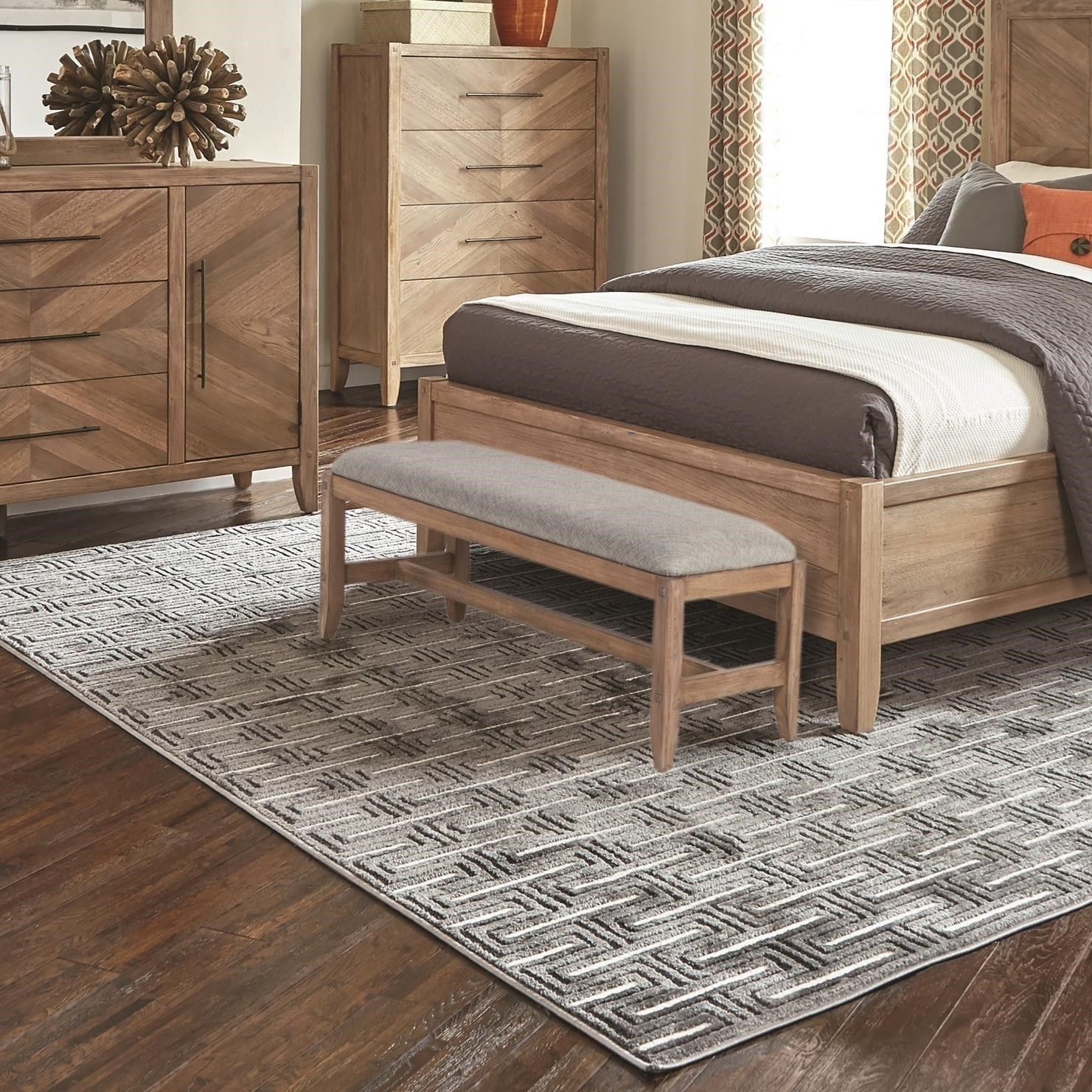 Marvelous Scott Living Auburn Upholstered Accent Bench